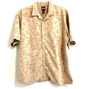Harley Davidson Tan Button Down Shirt